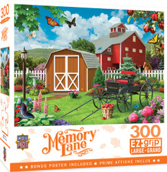 Memory Lane - Barnyard Beauties - Large 300 Piece EZGrip Jigsaw Puzzle by Alan Giana