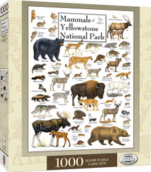 Poster Art - Mammals of Yellowstone National Park - 1000 Piece Jigsaw Puzzle