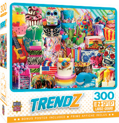 Trendz - Fancy Cakes - Large 300 Piece EZGrip Jigsaw Puzzle