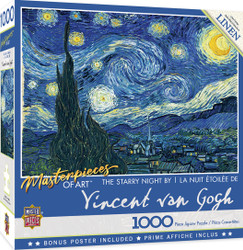 Masterpieces - The Starry Night 1000 Piece Jigsaw Puzzle