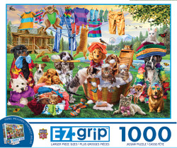 1000 EZGrip - Laundry Day Rascals - Large 1000 Piece Jigsaw Puzzle