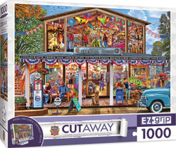 1000pc EZGrip Cut-Aways - Hometown Market - Large 1000 Piece Jigsaw Puzzle