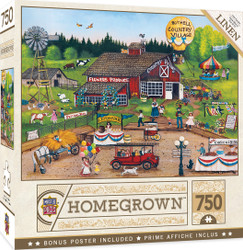 Homegrown - Country Pickin's - 750 Piece Linen Jigsaw Puzzle by Cindy Mangutz