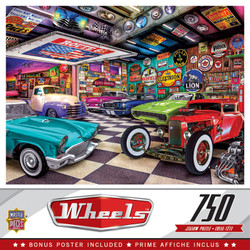 Wheels - Collector's Garage - 750 Piece Jigsaw Puzzle