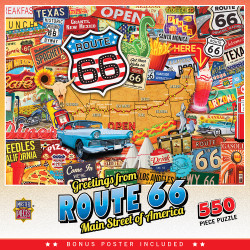 Travel Collages - Route 66 - 550 Piece Jigsaw Puzzle