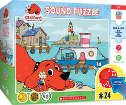 Clifford - Library Boat - 24 Piece Kids Puzzle with Sound Chip