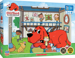 Clifford Right Fit - Doghouse - 24 Piece Jigsaw Puzzle