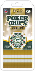 Green Bay Packers NFL 20 Piece Poker Chips Set