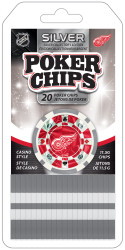 Detroit Red Wings NHL 20 Piece Poker Chips Set