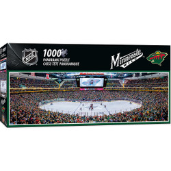 Minnesota Wild 1000 Piece Stadium Panoramic Puzzle