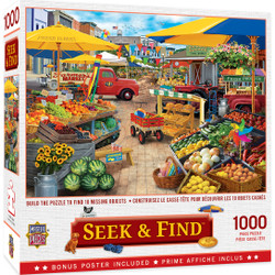 Seek & Find - Market Square - 1000 Piece Jigsaw Puzzle