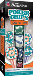Miami  Dolphins 100 Piece Game Chips