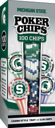 Michigan State 100 Piece Game Chips