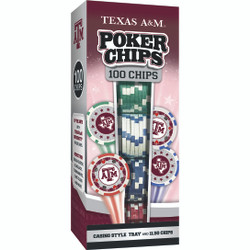 Texas A&M 100 Piece Game Chips
