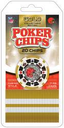 Cleveland Browns Poker Chips 20 Piece