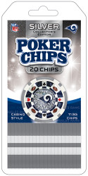 Los Angeles Rams Poker Chips 20 Piece