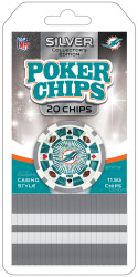 Miami Dolphins Poker Chips 20 Piece