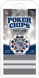 Tennessee Titans Poker Chips 20 Piece