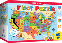 USA Map - 80 Piece Floor Puzzle