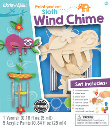 Sloth Wind Chime Wood Paint Kit