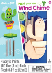 Cactus Wind Chime Mini Wood Paint Kit