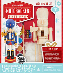 Nutcracker King's Guard Holiday Wood Paint Kit