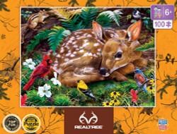 Realtree Kids - Realtree Forest Babies Right Fit 100 Piece Kids Puzzle