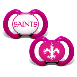 New Orleans Saints 2-Pack Pink Pacifier