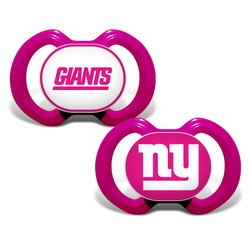 New York Giants 2-Pack Pink Pacifier