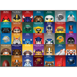 NFL League Mascots 100 Piece Puzzle Puzzle