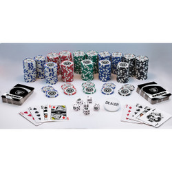 NFL Raiders 300 Piece Poker Set