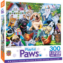 Playful Paws - Washing Time 300 Piece EzGrip Puzzle