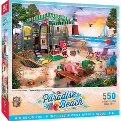 Paradise Beach - Oceanside Camping 550 Piece Puzzle