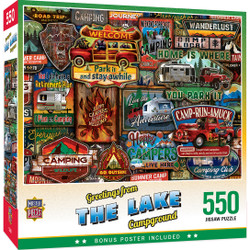Greetings From - The Lake 550 Piece Puzzle
