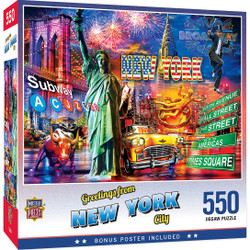 Greetings From - New York City 550 Piece Puzzle
