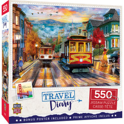 Travel Diary - San Francisco Rise 550 Piece Puzzle