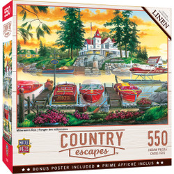 Country Escapes - Millionaire's Row 550 Piece Puzzle