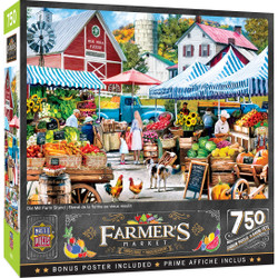 Farmer's Market - Old Mill Farm Stand 750 Piece Puzzle