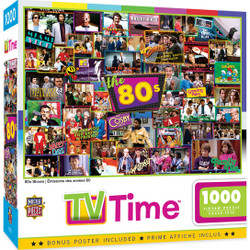 TV Time - 80s Shows 1000 Piece Puzzle
