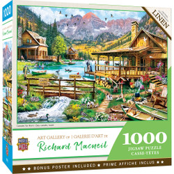 Art Gallery - Canoes For Rent 1000 Piece Puzzle
