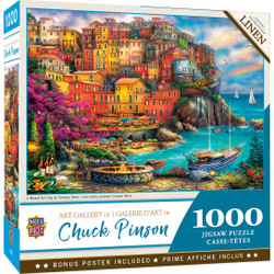 Art Gallery - A Beautiful Day at Cinque Terre 1000 Piece Puzzle