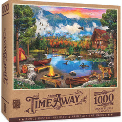 Time Away - Sunset Canoe 1000 Piece Puzzle