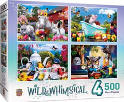 Wild & Whimsical - 4-Pack 500 Piece Puzzles