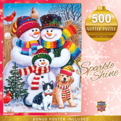 Holiday - Family Portrait 500 Piece Glitter Puzzle