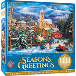 Holiday - Sledding to Home 1000 Piece Puzzle