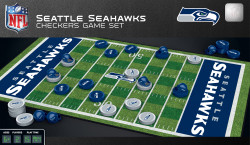 Seattle Seahawks Checkers Board Game