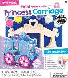 Princess Carriage Wood Paint Kit