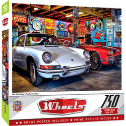 Wheels - Hot Rod Alley - 750 Piece Jigsaw Puzzle