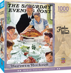 Saturday Evening Post - Freedom from Want - 1000 Piece Jigsaw Puzzle by Norman Rockwell