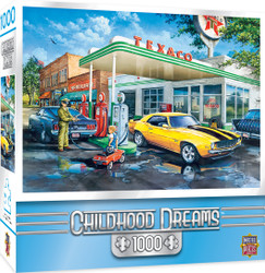 Childhood Dreams Pop's Quick Stop -1000 Piece Jigsaw Puzzle by Dan Hatala